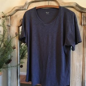 Madewell Whisper Cotton Tee, Stormy Grey, Large